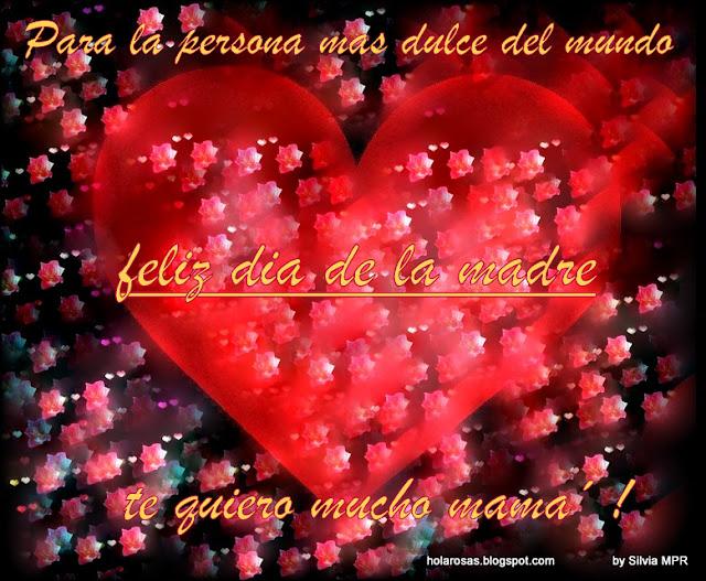 corazones y flores para obsequiar a mama en su dia de holarosas.blogspot.com