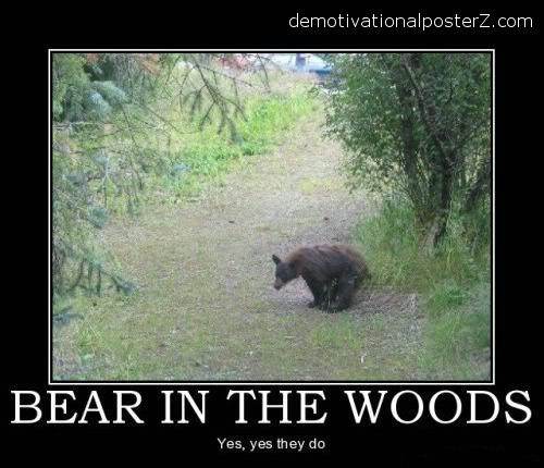 do bears shit in the woods