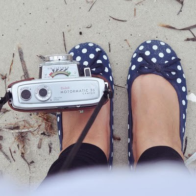 vintage camera and shoes