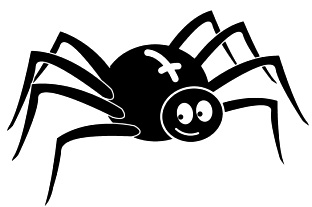Araña en dibujo