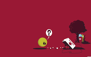 Retro game pacman ghost trapping desktop wallpaper