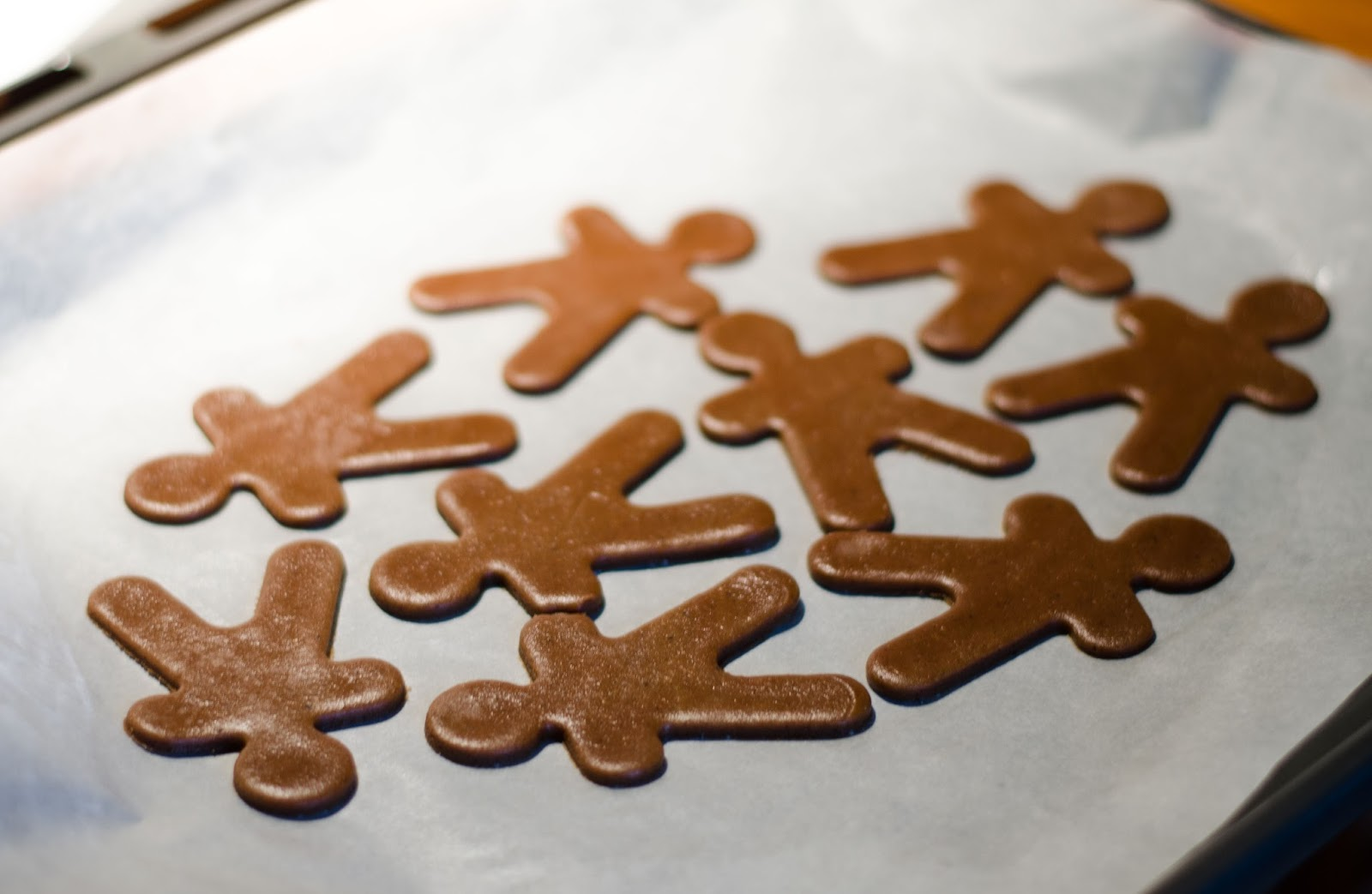gingerbread dough men in the making