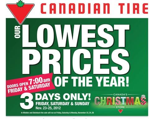 Canadian Daily Deals Canadian Tire Black Friday Flyer Deals Nov 23 25