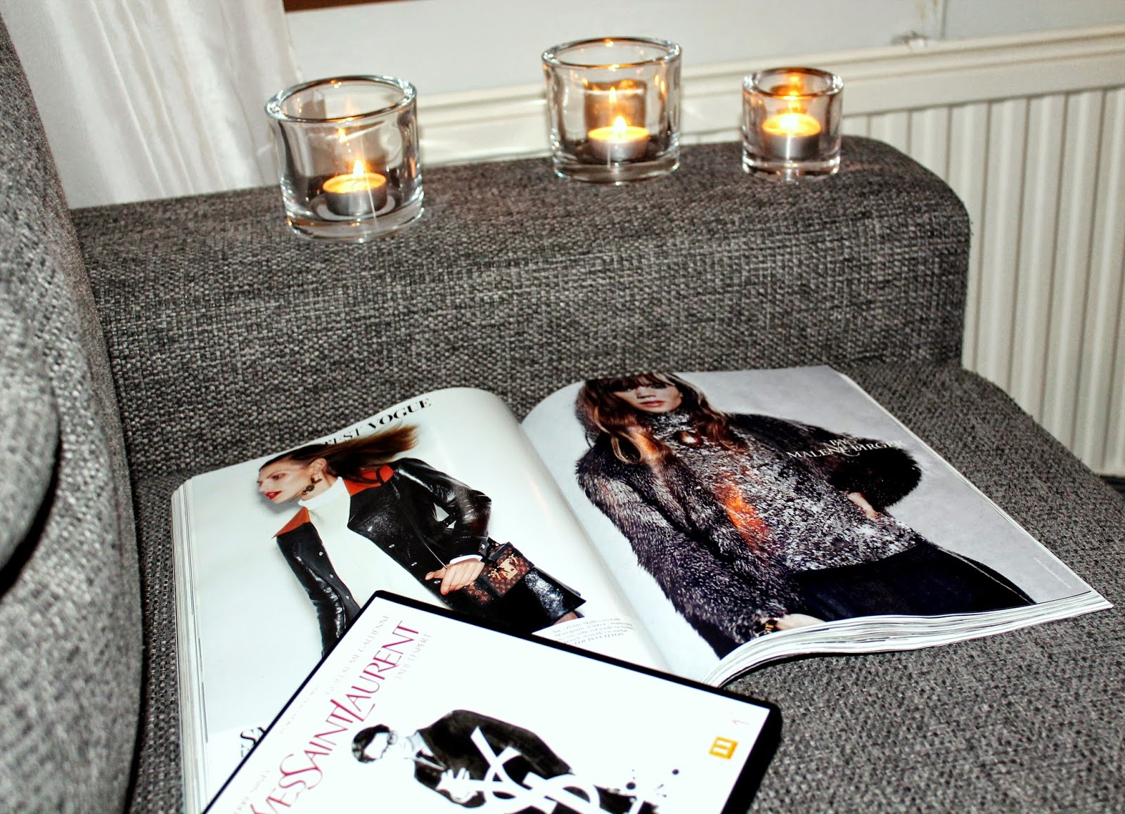 girls movie night, me-time, reading magazines