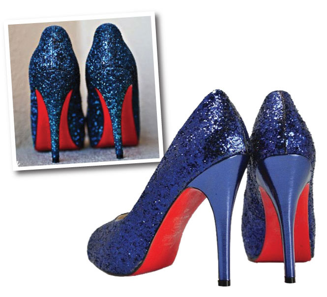Labels blue Christian Louboutin Something Blue wedding shoes