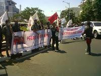 Mahasiswa Jateng Gelar Demo Tolak Hasil Pilpres 2014