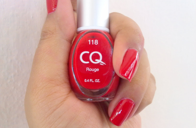 BB Cream Korean: CQ Scherer Nail Polish in Rouge ~ Review and Swatches
