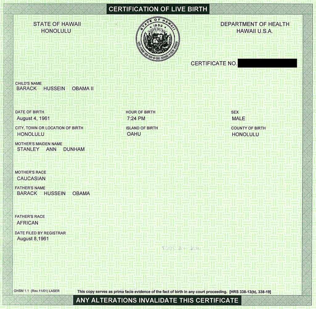 Why wont donald trump release his long form birth certificate obama courtesy of snopes note that snopes has concluded that its real president obamas birth certificate yadclub Images