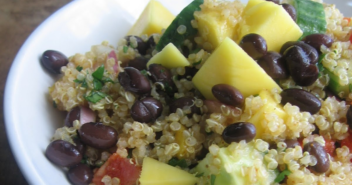 sweetsugarbean: Curried Quinoa Salad With Mango and Black ...
