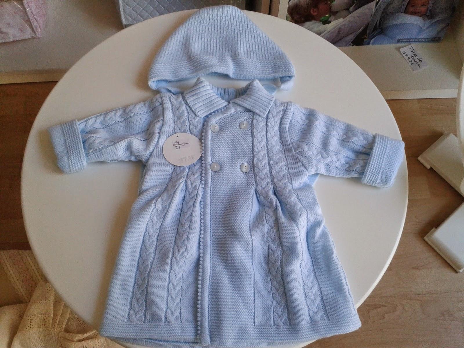 082b78620de Lazos Bebés  Abrigo bebé lana invierno. Canastilla bebé