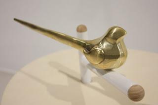 lampe oiseau bronze design