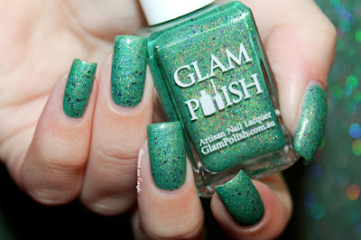 "Swatch of the nail polish ""Frankenslime 2014"" by Glam Polish"