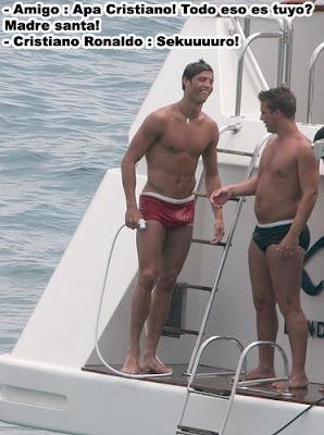 Cristiano Ronaldo erección humor