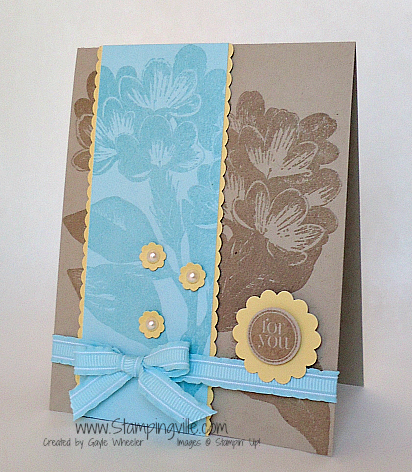 Stampin' Up! Sweet Floral Background Stamp