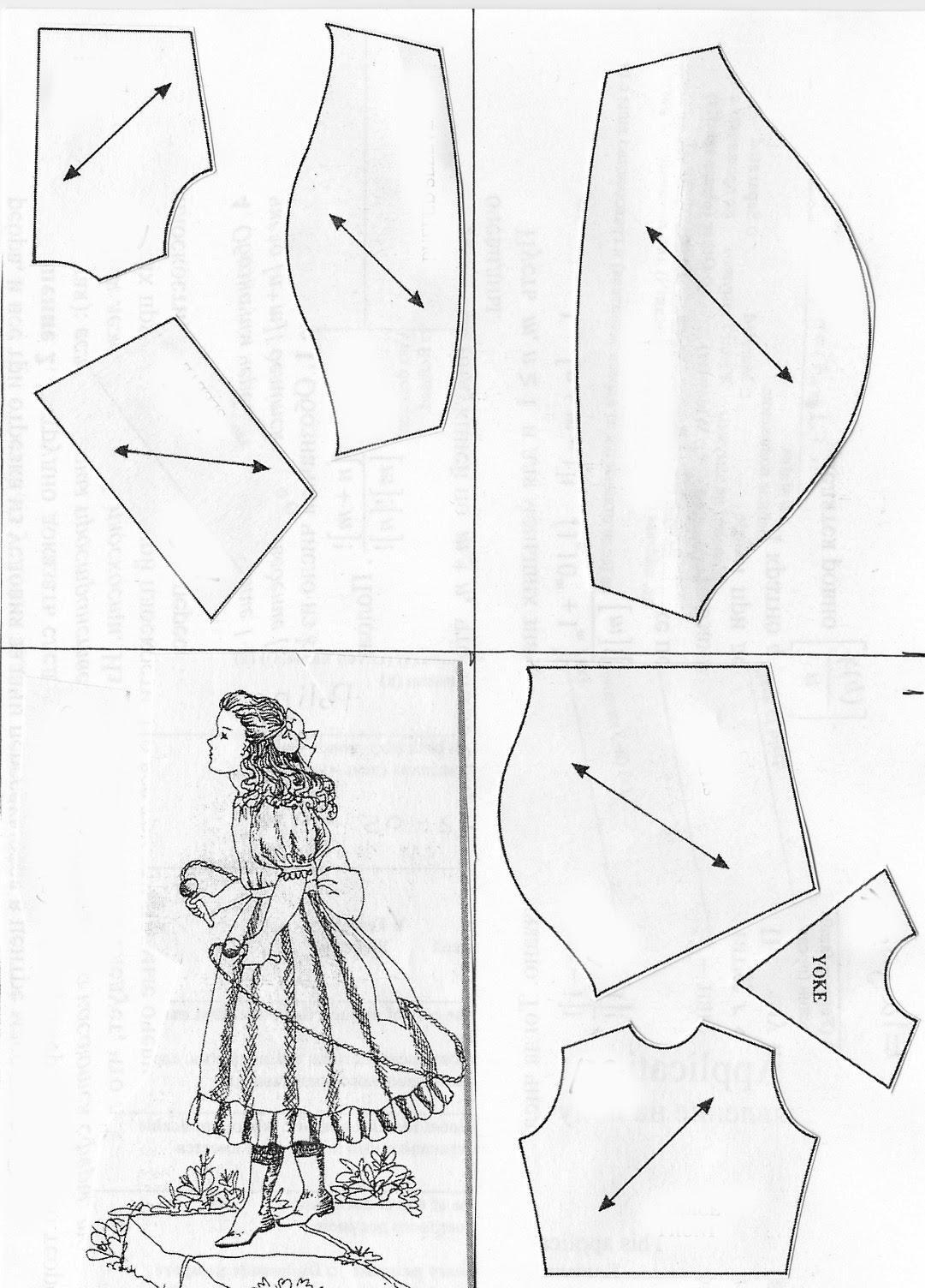 Выкройка платья антикварной куклы