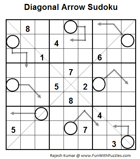 Diagonal Arrow Sudoku (Daily Sudoku League #57)