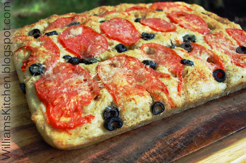 Pizza dough focaccia