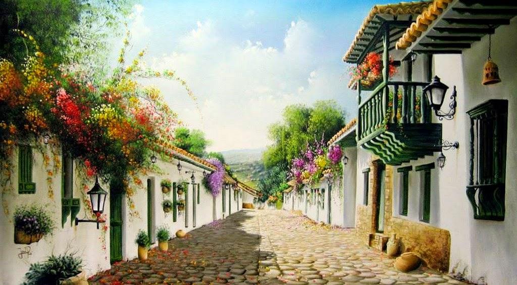pinturas-de-paisajes-colombianos-tipicos José Raúl Rodríguez Galán