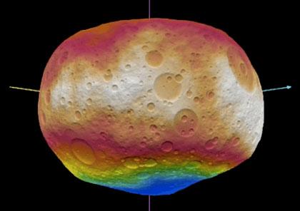 grenz wissenschaft aktuell asteroid vesta in 3d testlauf f r die ankunft der dawn sonde im. Black Bedroom Furniture Sets. Home Design Ideas
