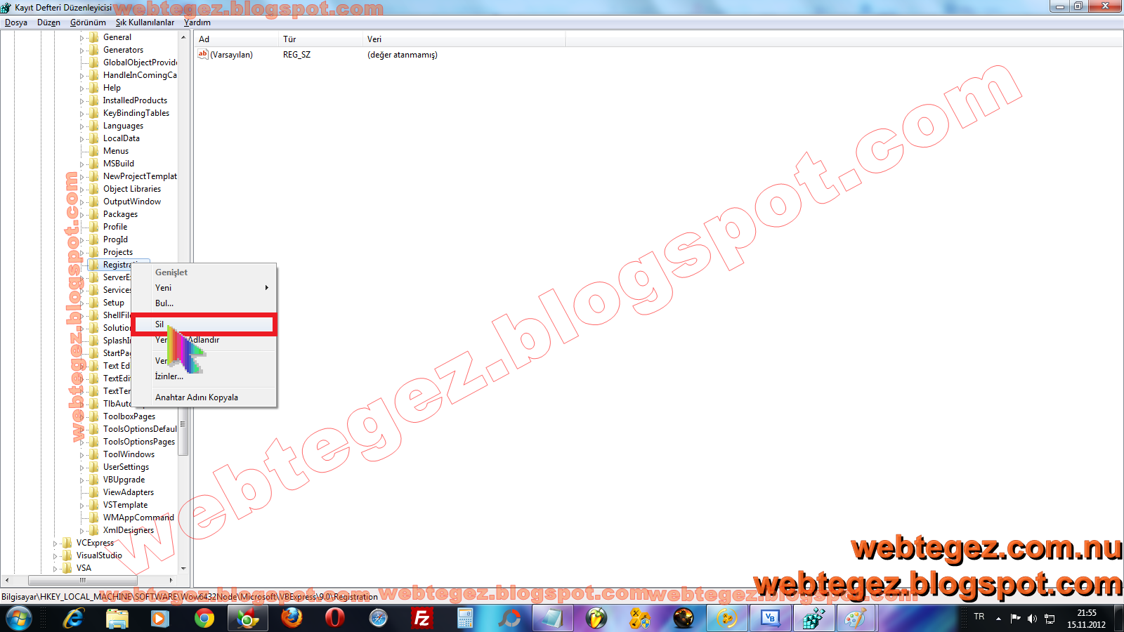 visual studio 2008 license key registry
