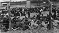 Mau Mau veterans in concentration camps in Kenya