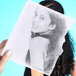 Montagem criativa com efeito desenho a lápis