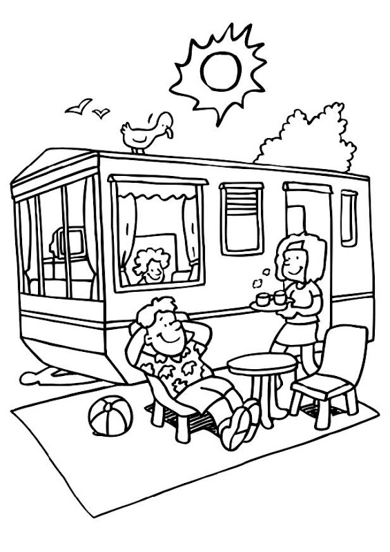 Camping coloring pages title=