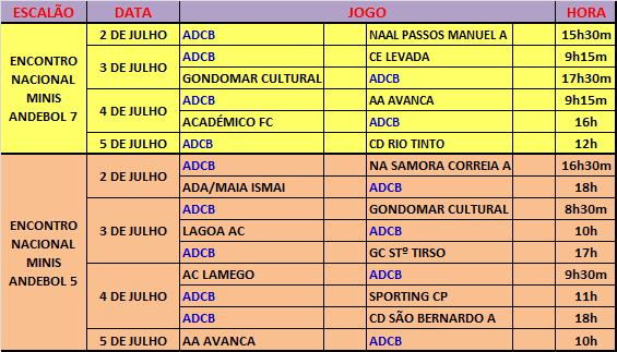 AGENDA - JOGOS OFICIAIS - JULHO 2015
