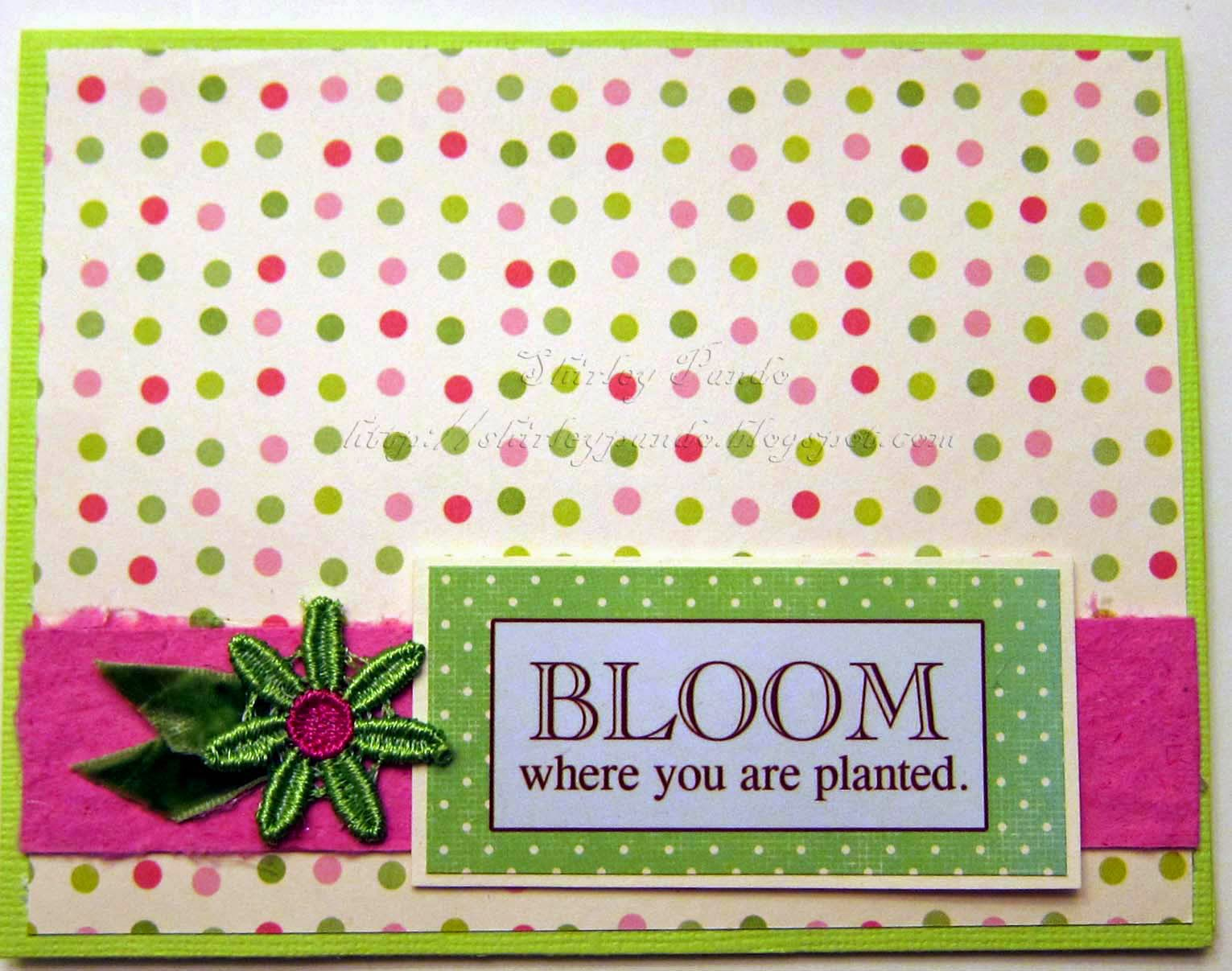 Bloom card