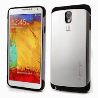 Slim Armor Case for Samsung Galaxy Note 3 N9000 N9002 N9005 - Silver