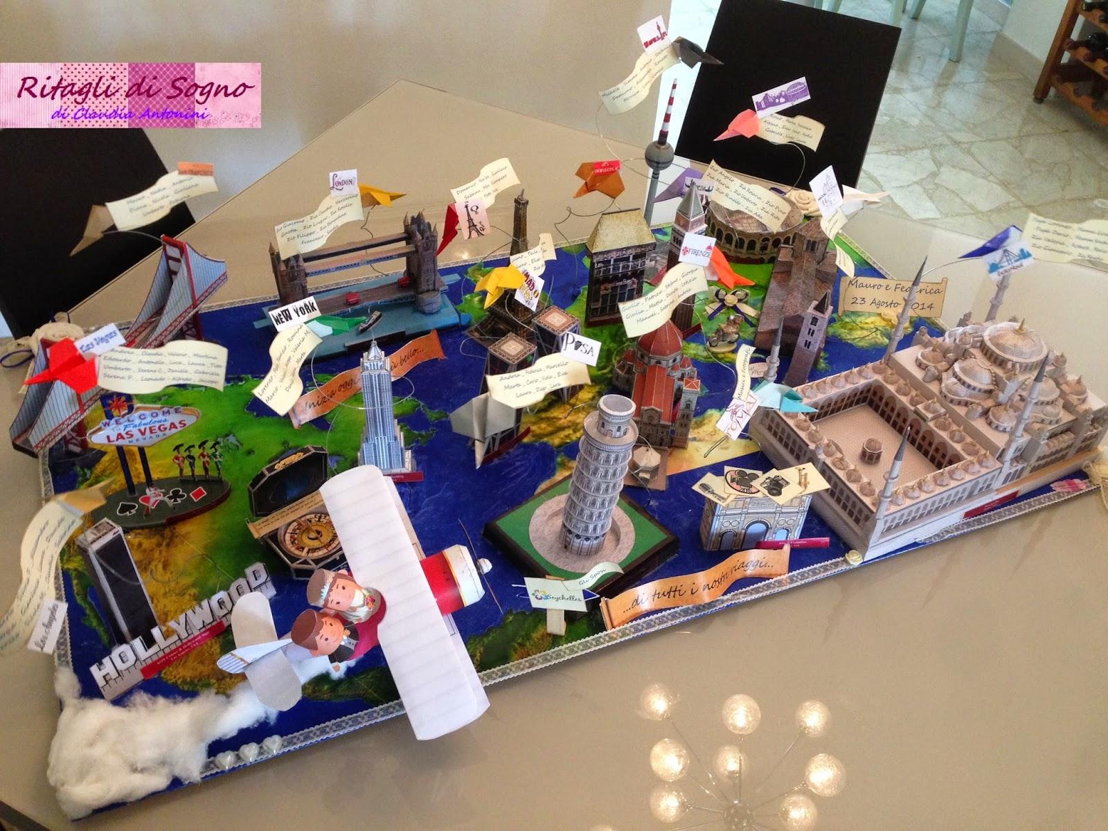 Matrimonio Tema Lego : Ritagli di sogno tableau d a tema viaggi quot inizia oggi il