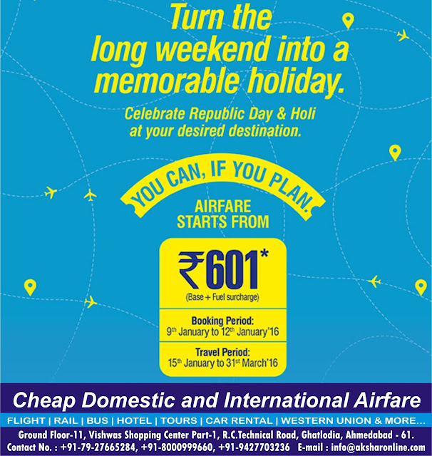 GoAir Domestic Airfare Sale....www.aksharonline.com, Akshar Infocom, Akshar Air Ticketing