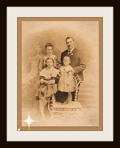 Vintage photo of a family