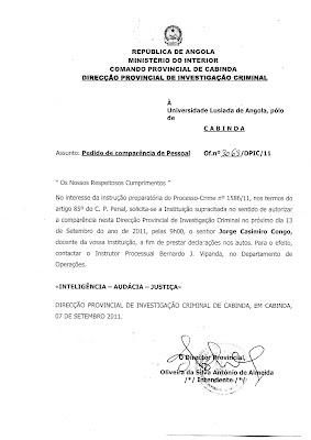 Padre Casimiro Congo está de novo na mira do regime (autoritário e colonial) angolano