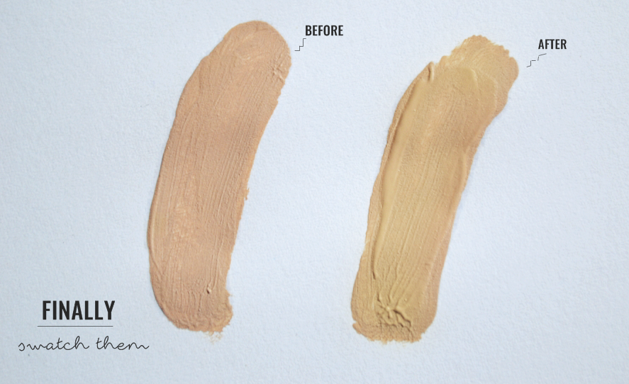 how to make your foundation yellow