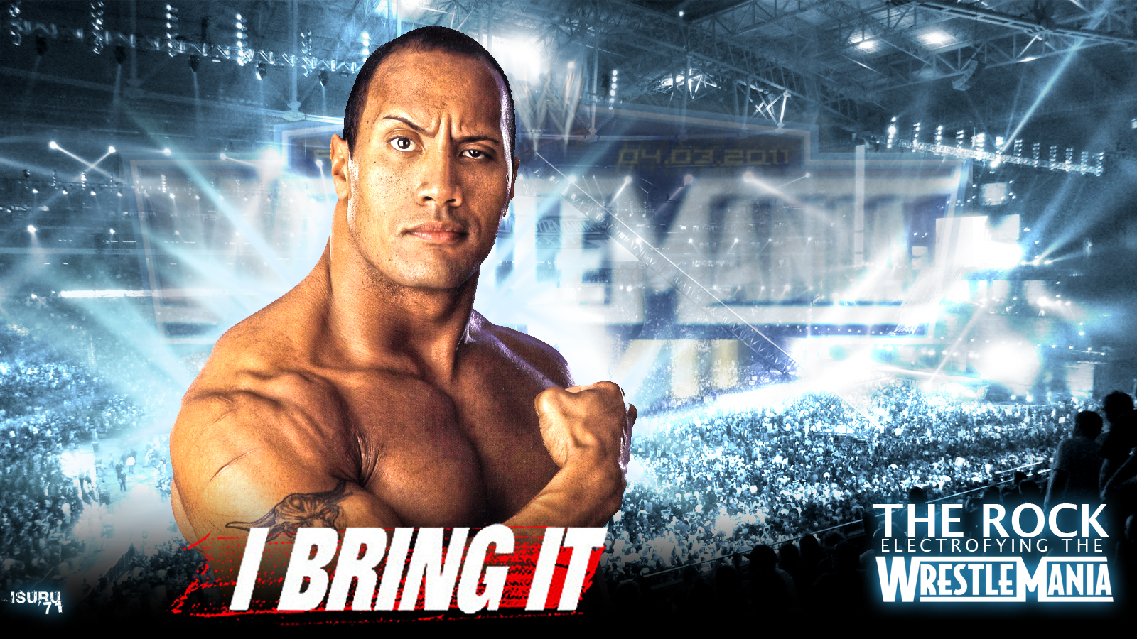 wwe the rock wallpaper - hd desktop wallpapers
