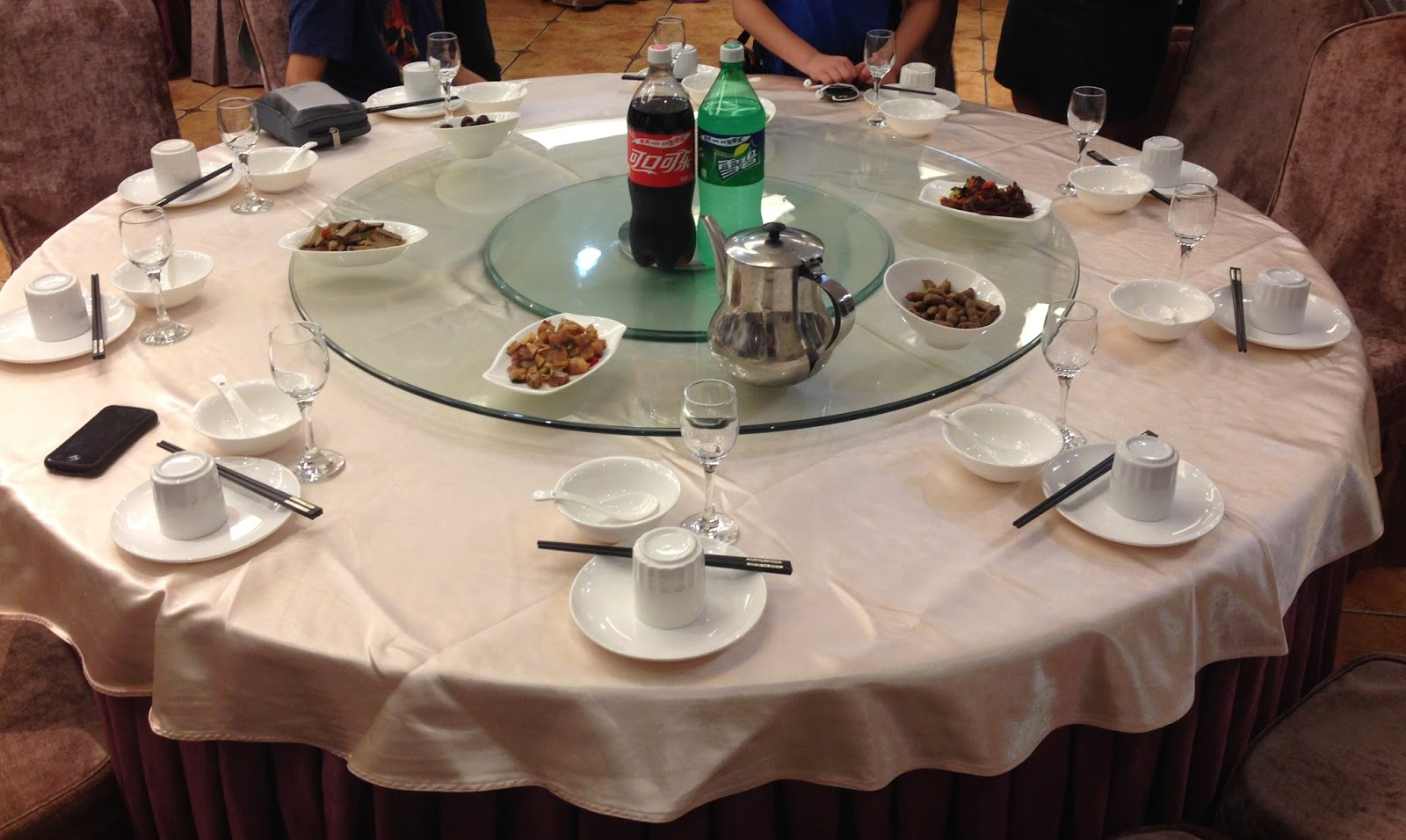 American table setting - Our Table Was Ready In Our Baojian
