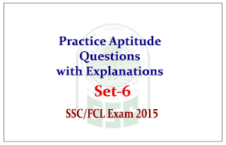 Practice Aptitude Questions with Solution for SSC/FCI Exam