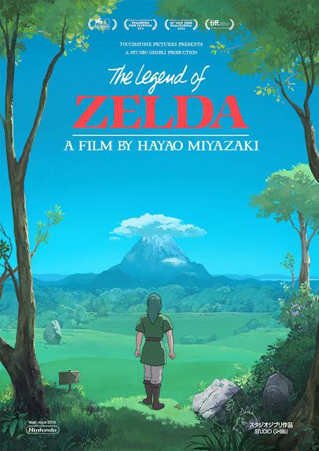 Drugi plakat filmu The Legend of Zelda Studia Ghibli z Linkiem