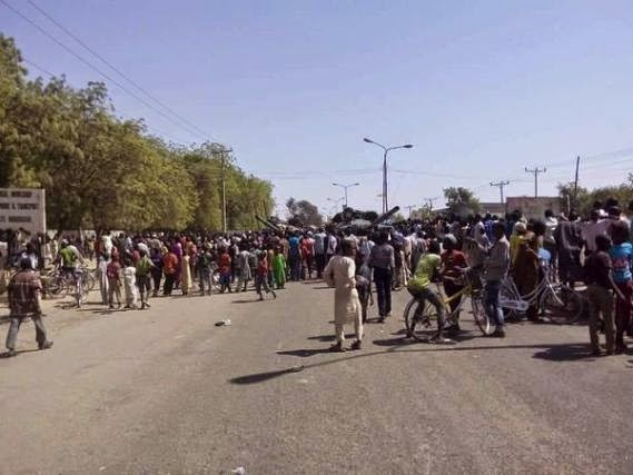 Photos: Crowd Welcome The Army & CJTF After Victory Against Boko Haram