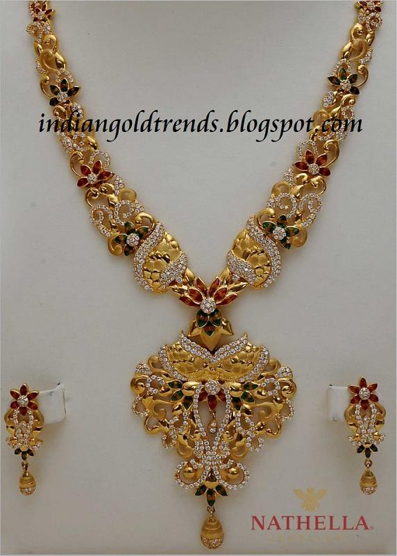 Indian Jewellery design 2016 22ct Gold Necklace Sets
