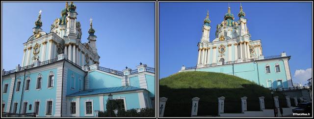 St Andrews Cathedral Kiev Andreevskiy Spusk rue boutique de souvenirs, Montmartre de Kiev