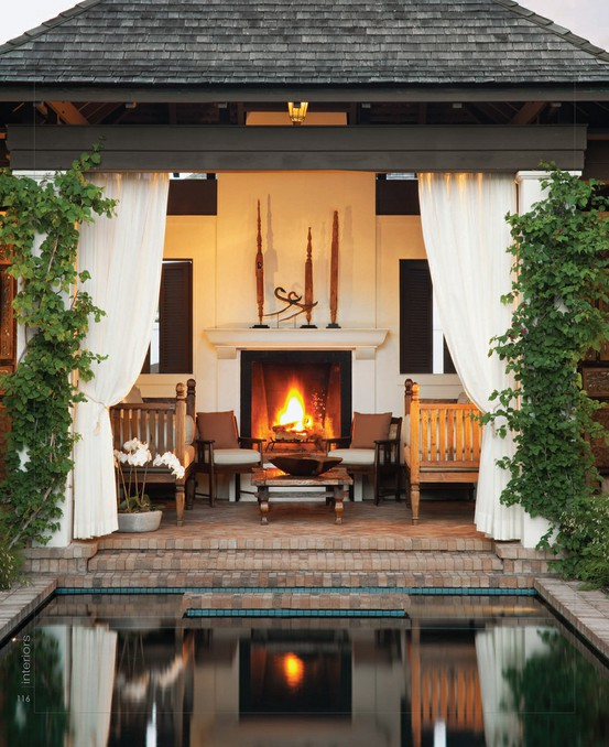Redvolution my dream spanish style home exterior inspiration for Spanish outdoor fireplace