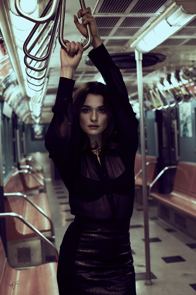 Rachel Weisz in Violet Grey