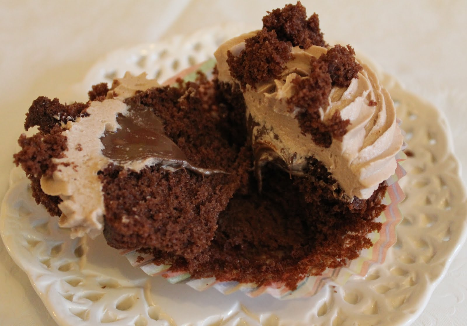 cup of tea solves everything: Nutella cupcakes