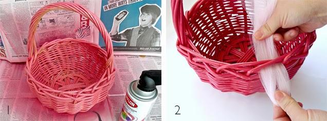 Manualidades y decoracion: Como decorar una canasta de mimbre.