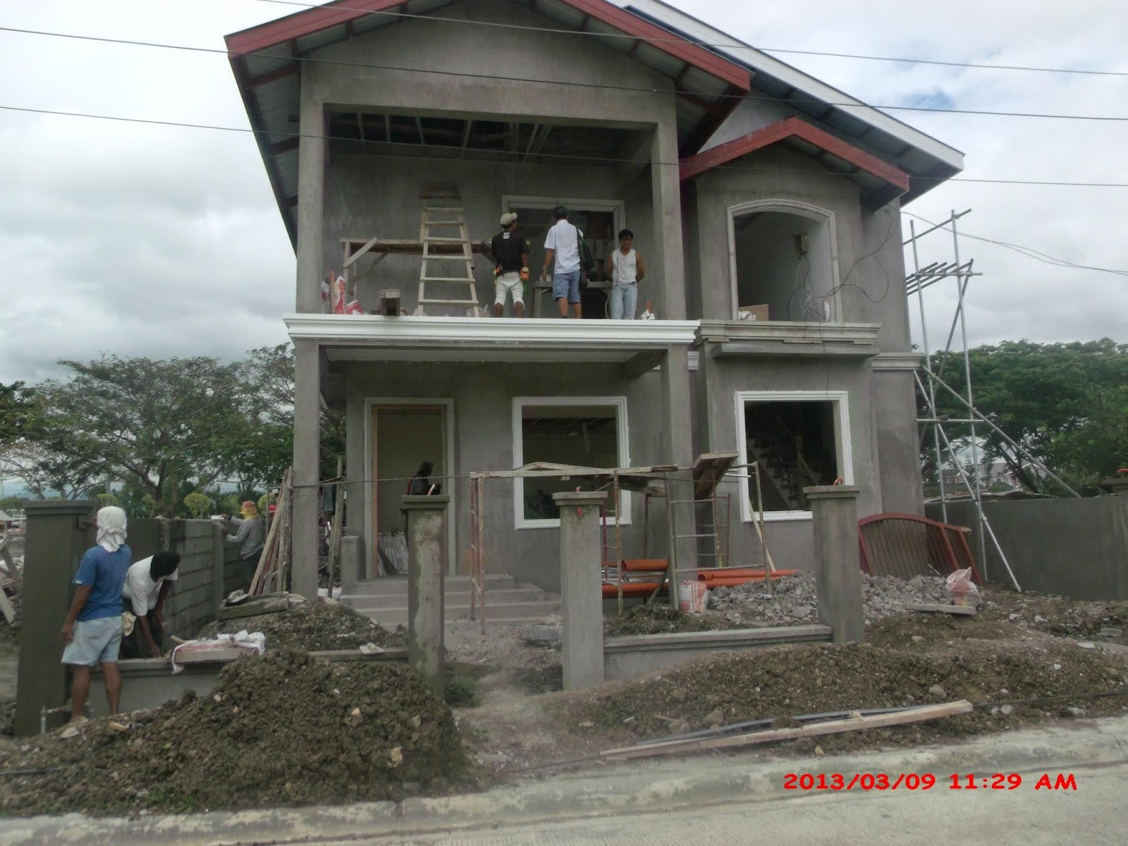 ... Small Two Story House Plans With Balcony Design For House Balcony Design  Philippines
