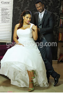 Peter Okoye & Lola Omotayo-Okoye cover december issue of Genevieve Magazine
