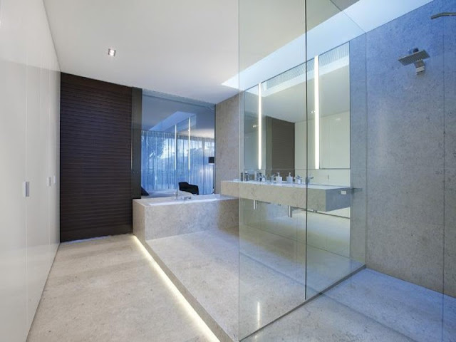 Photo of modern bathroom in amazing dream home in Melbourne