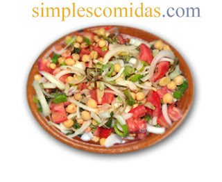 ensalada de garbanzos